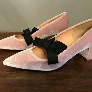 J.Crew $198 Avery Velvet Pumps with Bow H1859